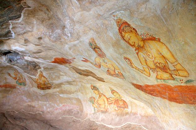 Clouds-Sri-Lanka-Woman-Cave-Painting